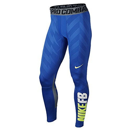 Nike Mens Pro Combat Hypercool 3.0 Compression Tights Game Royal/Photo Blue/Volt 576978-480 Size Large