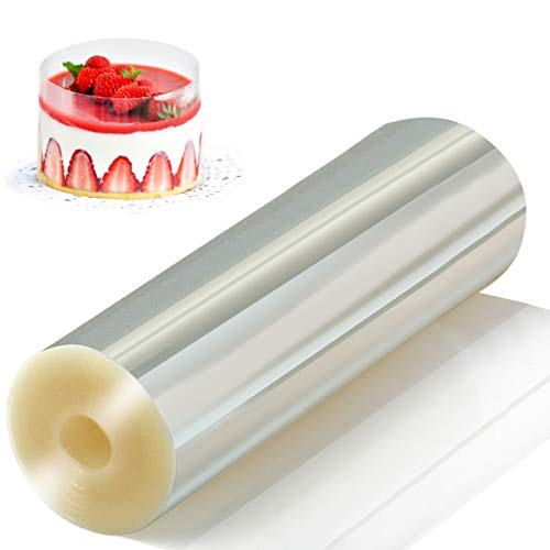 - Amytalk Cake Collars 6.3 x 394inch, Acetate Rolls, Clear Cake Strips, Transparent Cake Rolls, Mousse Cake Acetate Sheets for Chocolate Mousse Baking, Cake Decorating