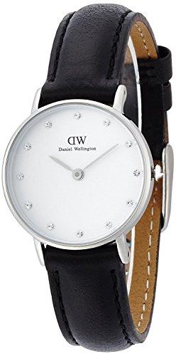 Daniel Wellington Women's 0921DW Classy Sheffield Stainless Steel Watch With Black Leather Band (Daniel Classy Wellington)