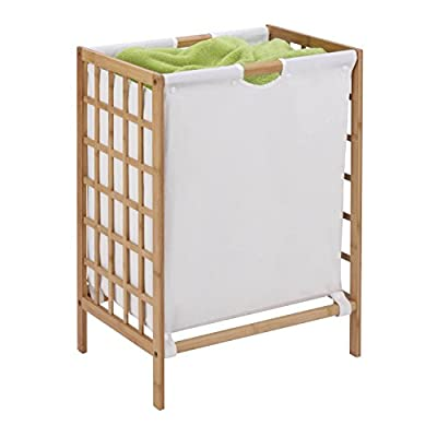 Honey-Can-Do HMP-03770 Bamboo Laundry Hamper with Natural Liner, 16 by 13 by 25-Inch - Includes washable liner Constructed of natural and sustainable materials Easy assembly with instructions included - laundry-room, hampers-baskets, entryway-laundry-room - 413PF5ZXRSL. SS400  -