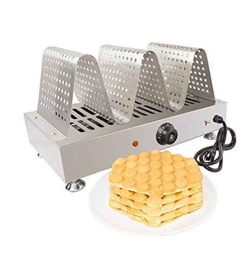 Puffle Waffle Maker Professional for EGG Waffle, Puff, Hong Kong Style, Egg, QQ, Muffin, Cake Eggettes and Belgian Bubble Waffles) (WARMER)