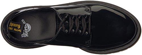 Chaussure lacée Dr. Martens 4 troux en peau noire platinée à clous Noir