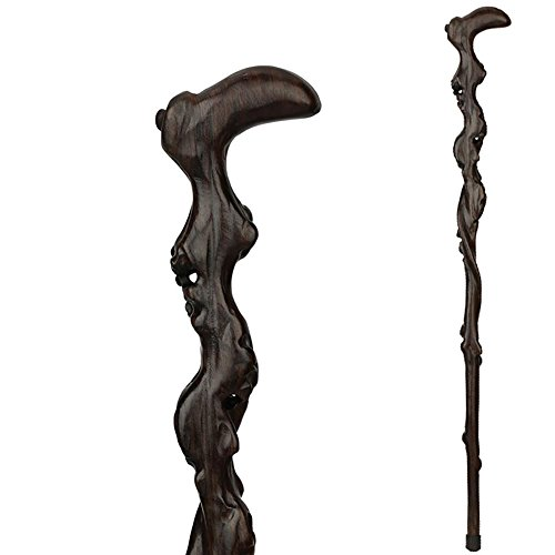 (Yaxuan Redwood Root Cane Crutches Leading Wood walking stick 86cm)