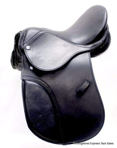 12″ Black Leather All Purpose Youth/Child English Saddle Horse Tack