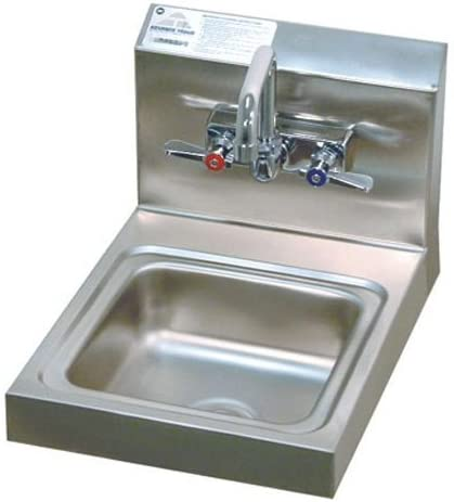"""Super Saver 12"""" x 16"""" Single Hand Sink with Faucet"""