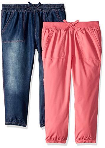 (Limited Too Girls' Big 2 Pack Capri Denim Jogger Pant Set, Rose Multi,)