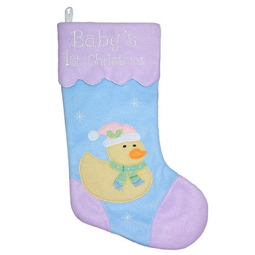 Baby's First Christmas 17'' Stocking with Duck