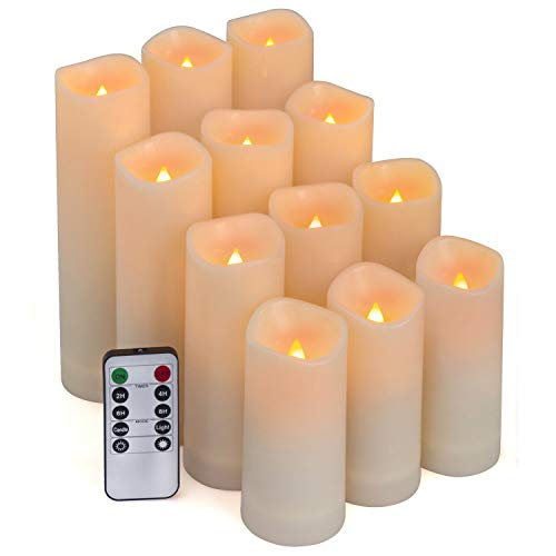Aignis Flameless Candles, Led Candles Set of 12(H 4