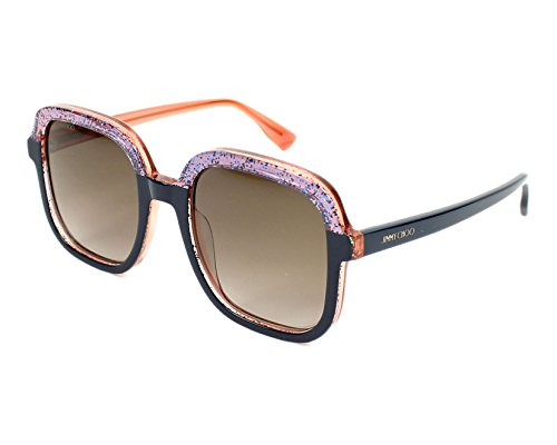 Jimmy Choo Glint/S Sunglasses Blue Glitter Crystal / Brown - Jimmy With Crystals Sunglasses Choo