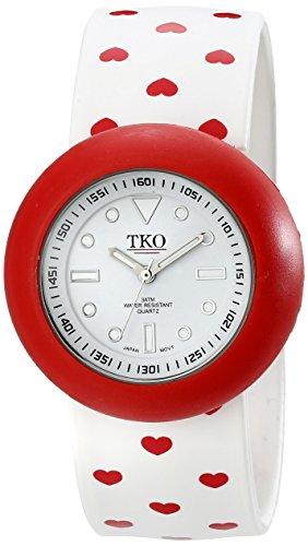 TKO ORLOGI Women's TK590-HWT White Heart Valentine Slap Watch