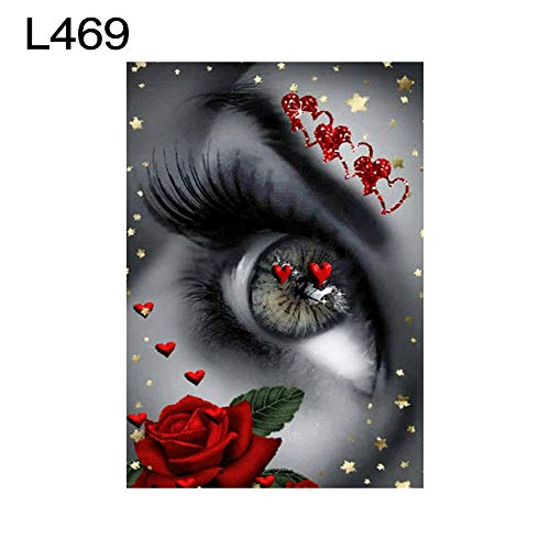 lightclub 30x40cm Flower Tiger Full Round Diamond Painting Embroidery Cross Stitch Craft - L469