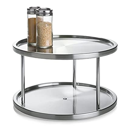 2 Tier Lazy Susan By Lovotex: Stainless Steel 360 Degree Turntable U2013  Rotating 2