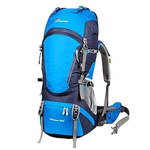 Mountaintop Outdoor Sports Professional Hiking Large Backpack Daypacks Waterproof Mountaineering Bag M5822 Unisex 60L Trekking Travel Bag Rucksack (New Sky Blue) [並行輸入品] B07DVRJZ5P