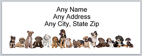 120 Personalized Address labels Cute Dogs (ac (Dog Address Labels)