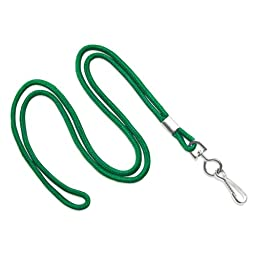 TruOffice Green 36-Inch Round Lanyards with Swivel Hook, 100-Pack (CLANY36-GR)
