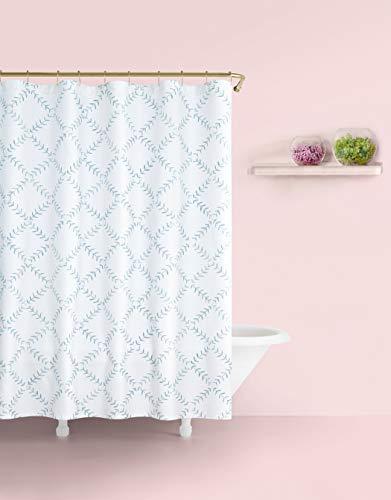 Kate Spade New York Fern Trellis Wht/Turq Shower Curtain, Turquoise/White (Kate Spade Curtain)