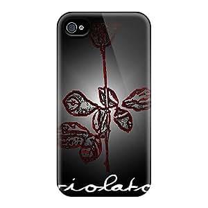 Iphone 4/4s PxF11797tskM Customized Fashion Depeche Mode Band Skin Perfect Hard Cell-phone Cases -AlissaDubois