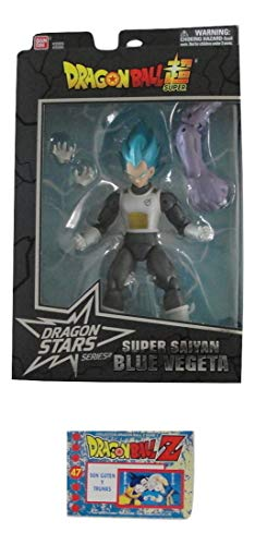 Dragon Ball Super Dragon Stars Series 4 Super Saiyan Blue Vegeta Figure Bundle with 1 Dragon Ball Z Trading Card