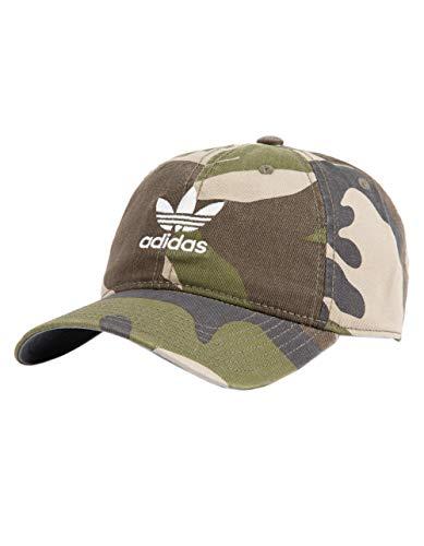 adidas Men's Originals Relaxed Strapback Cap, Aop Camo Olive Cargo/White, One Size