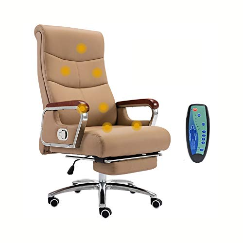 YWYF Boss Office Products, Reclining Computer Chair, Lifting Swivel Chair, PU Leather Chair for Home Study Staff Office…