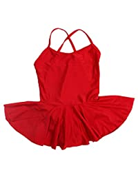 Happy Cherry Kids Girls Dance Camisole Leotard Dress Skirt Tutu for Ballet
