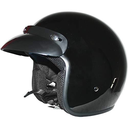 Leopard LEO-604 Scooter Motorcycle Motorbike Open Face Crash Helmet Road...