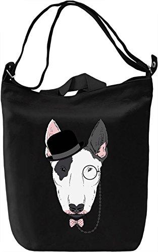 Bowtie dog Borsa Giornaliera Canvas Canvas Day Bag| 100% Premium Cotton Canvas| DTG Printing|