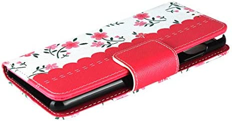 AQUOS sense3 / sense3 lite / sense3 basic/Android One S7 [SH-02M / SHV45 / SH-RM12]該当するストラップ印刷携帯電話ホルスター、ビジネスフリップノートブックレザーケースシンプルなレトロファッション携帯電話保護カバー防水防汚携帯電話ホルダーブラケット、多機能ウォレット収納付き携帯電話シェルPUレザー保護カバーTPUソフトインナーシェル耐久性摩擦防止男性と女性3色から選択 (赤)