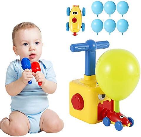 パワーバルーンカー 風船車おもちゃ バルーンポンプ エア実験 バルーンカー おもちゃ 慣性車 知育玩具 子供 DIY 組み立て モデル 可愛い 早期教育 6風船付き
