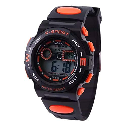 Kanpola Niño Smartwatch Fashion Relojes, Multi Function Alarm Clock Student Waterproof Sports Fashion Electronic Watch: Amazon.es: Relojes