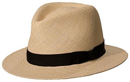 Genuine Panama Hat - Levine Hat Co. Genuine Panama 'Weekender' Downturn Brim Straw Hat (Large (fits 7 1/4 to 7 3/8), Natural)