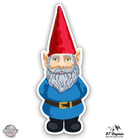 GT Graphics Garden Gnome with Hat - 5