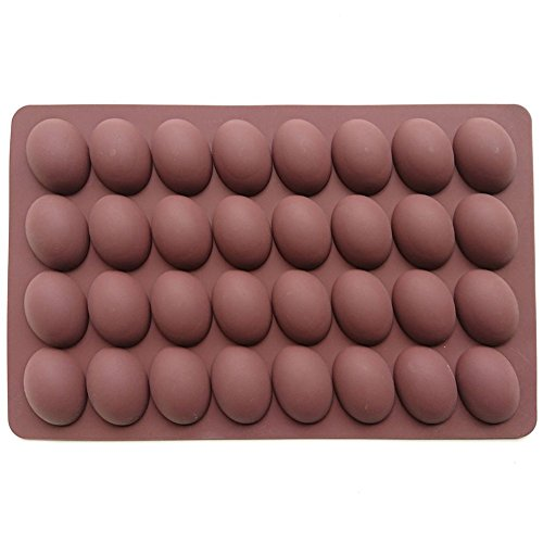 Truffle Chocolate Mold (Axe Sickle 32 holes Egg Shape chocolate molds,Truffles Chocolate,chocolate mold,Silicone mold,Muffin mold,Pudding mold,Ice tray mold,baking mold,Soap and More)