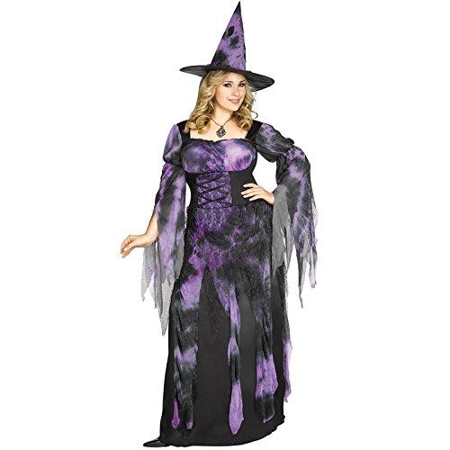 Fun World Women's Plus Size Starlight Witch Costume, Multi, XX-Large]()