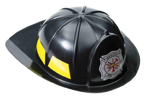 [Black Fireman Child Hat] (Womens Firefighter Costumes)