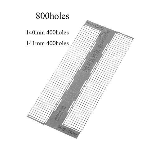 vivimix Diamond Painted Net Ruler Mesh Grid Model Round Nano Anti-Stick Drilling Tool 50 Grid 141mm 400Holes/140mm 400Holes Grid for Diamond Cross Stitch ()