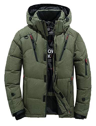 security Men Hooded Jacket Warm Cotton Jacket Zipper Athletic Outdoor Coat 1