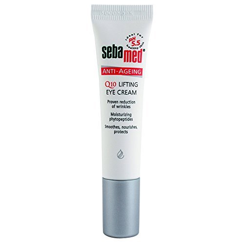 Sebamed Anti Aging Q10 Lifting Eye Cream 15 ml. , PH 5.5 for sensitive skin ,Averaging 32% reduction of wrinkles within the 28 day test period , Germany Brand