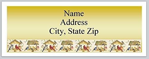 (120 Personalized Address labels Primitive Country Birdhouses Birds (P 344))