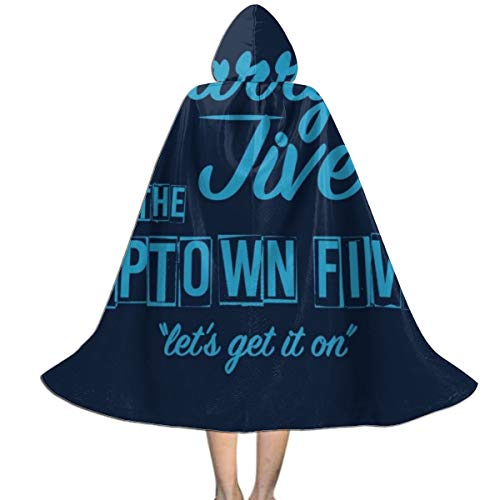 High Fidelity Barry Jive and The Uptown Five Unisex Kids Hooded Cloak Cape Halloween Party Decoration Role Cosplay Costumes Outwear ()
