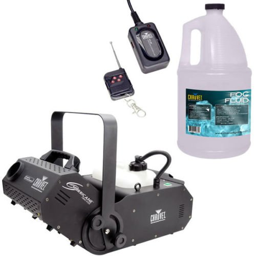 Chauvet Hurricane 1800 Flex Fog Machine w/ FC-W Wireless Remote & Fog Fluid by Chauvet