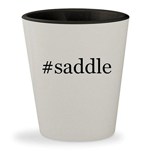 Price comparison product image #saddle - Hashtag White Outer & Black Inner Ceramic 1.5oz Shot Glass