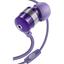 GOgroove audiOHM HF Ergonomic Earbuds Earphones w/ Hands-Free Microphone & Deep Bass ( Purple ) for Samsung GT-i8190 Galaxy S3 , Motorola Moto G , Galaxy S & More!