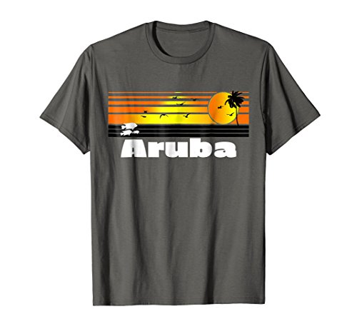 Aruba T-Shirt Retro Aruba Surfing Souvenir Gift Shirt