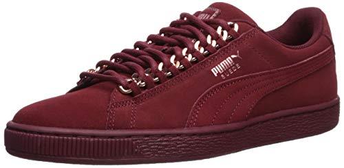 (PUMA Women's Suede Classic Sneaker, Pomegranate-Rose Gold, 9 M US)