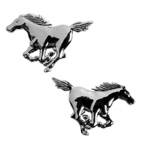 2 St/ück Pferd Akhan 3D15027 Chrom 3D Schriftzug Emblem Logo Horse