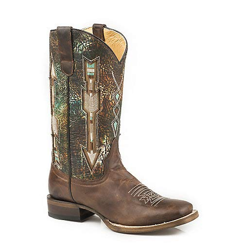 (Roper Ladies Arrows Conceal Carry Sq Boots 5.5)