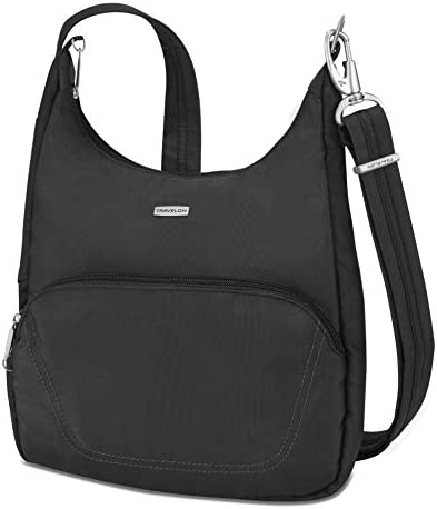 Travelon Anti-Theft Classic Essential Messenger Bag, Black, One Size