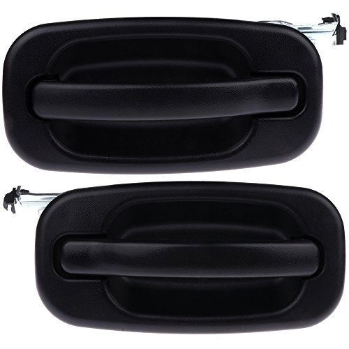 ECCPP Door Handles Exterior Outside Outer Rear Driver Passenger Side for 2000-2007 GMC Chevy(Pack of 2)