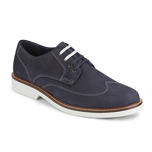 Havenarbeiders Mens Monticello Vleugeltip Oxford Schoen Met Neverwet Marine